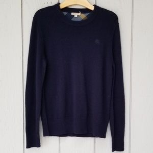 Burberry | Cashmere Check Elbow Sweater